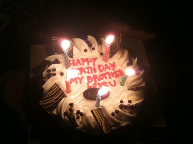 My Birthday cake from brother :) Flickr - Photo Sharing!