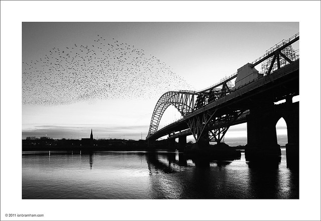 Dusk at Runcorn Bridge