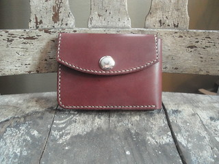 Snap bifold in mahogany