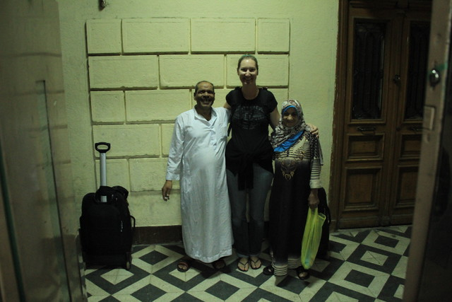 Locals wanting a photo with Lorna, Cairo, Egypt