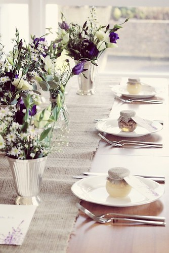 Rustic Lavender Table