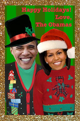 The Obamas Christmas Sweater-ized