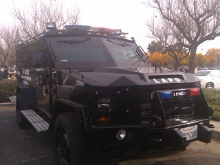 Huge LAPD SWAT vehicle at the Motor 4 Toys event.