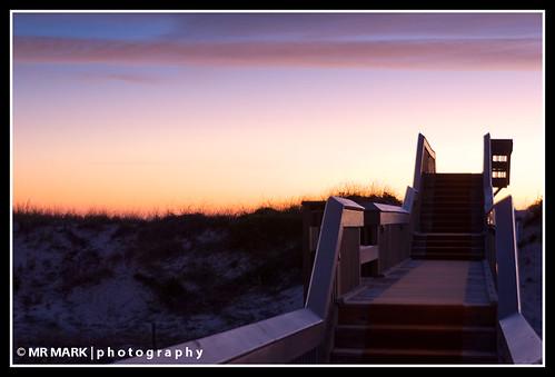 morning sunrise florida entrance wells deck walkway boardwalk ritzcarlton ameliaisland