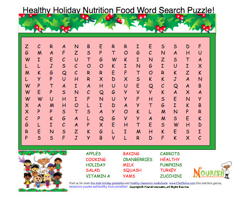 Holiday Food Word Search Puzzle | Flickr - Photo Sharing!