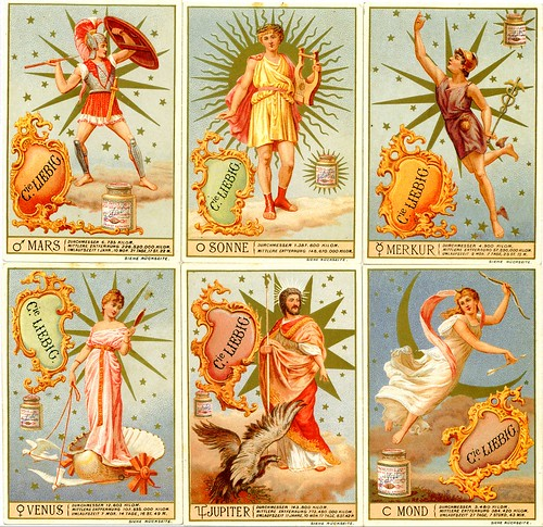Liebig Tradecards - S355 Heavenly Bodies