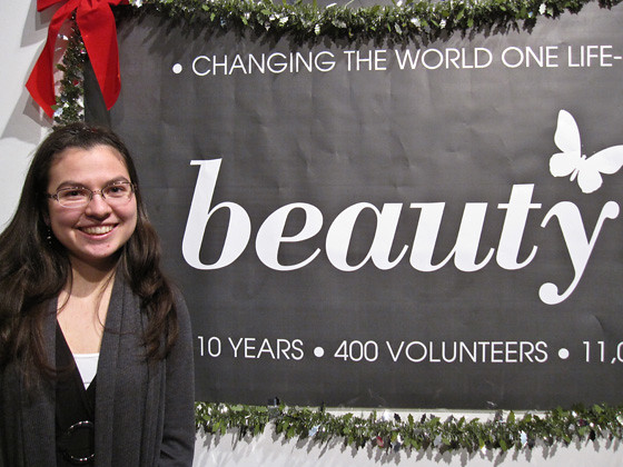 Julia Pon, one of 400 Beauty Night volunteers