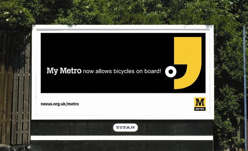 Tyne & Wear Metro: I Throw My Cycling Gloves In Your Face.