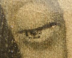 Virgen de Guadalupe (detalle del ojo izquierdo) (una imagen viva)