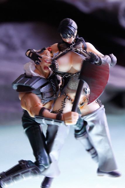 """Photo:Additional pic--""""""""Fighting theme"""" of """"deluxe dress"""" for revoltech """"Queen's blade"""" Cattleya Katrea リボルテックQB  リボルテック 武器屋 カトレア By Skinning Bear"""