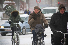 Snowstorm Multitasking - Winter Cycling in Copenhagen