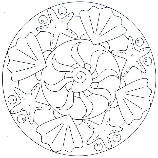 mandala coloring page - sea