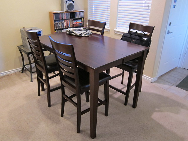 New table and chairs