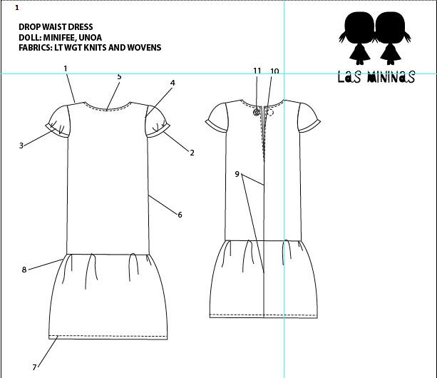 Drop Waist Dress Pattern 171 Design Patterns