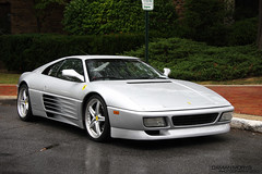 ferrari f355(0.0), ferrari testarossa(0.0), race car(1.0), automobile(1.0), vehicle(1.0), performance car(1.0), automotive design(1.0), ferrari 348(1.0), ferrari s.p.a.(1.0), land vehicle(1.0), luxury vehicle(1.0), supercar(1.0), sports car(1.0),