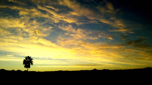 sky silhouette mobile clouds sunrise cellphone flickroid