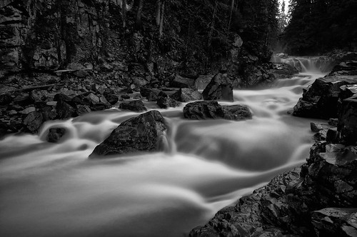 bw water creek river waterfall washington stream granite granitefalls