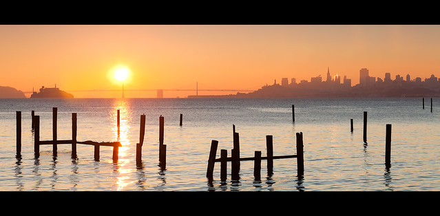 San Francisco seen from Sausalito @ sunrise