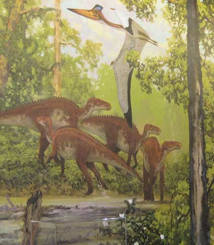 (Not So) Old Paleoart at MOS - Doug Henderson Maiasaura mural | Flickr - Photo Sharing!