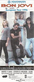 Bon Jovi. Gijón 1996