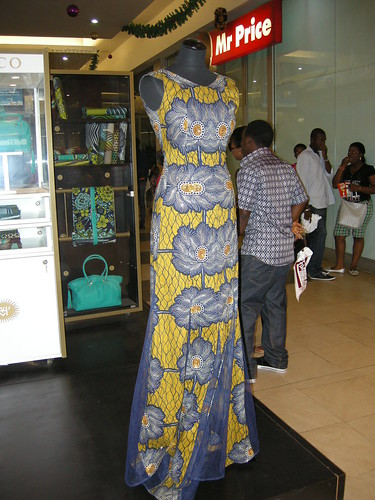 stunning dress and fabric by Vlisco