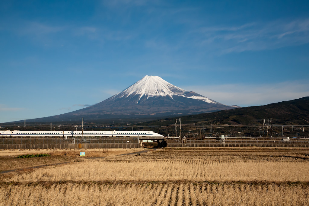 Mt. Fuji and Shinkansen Express train rides in Japan