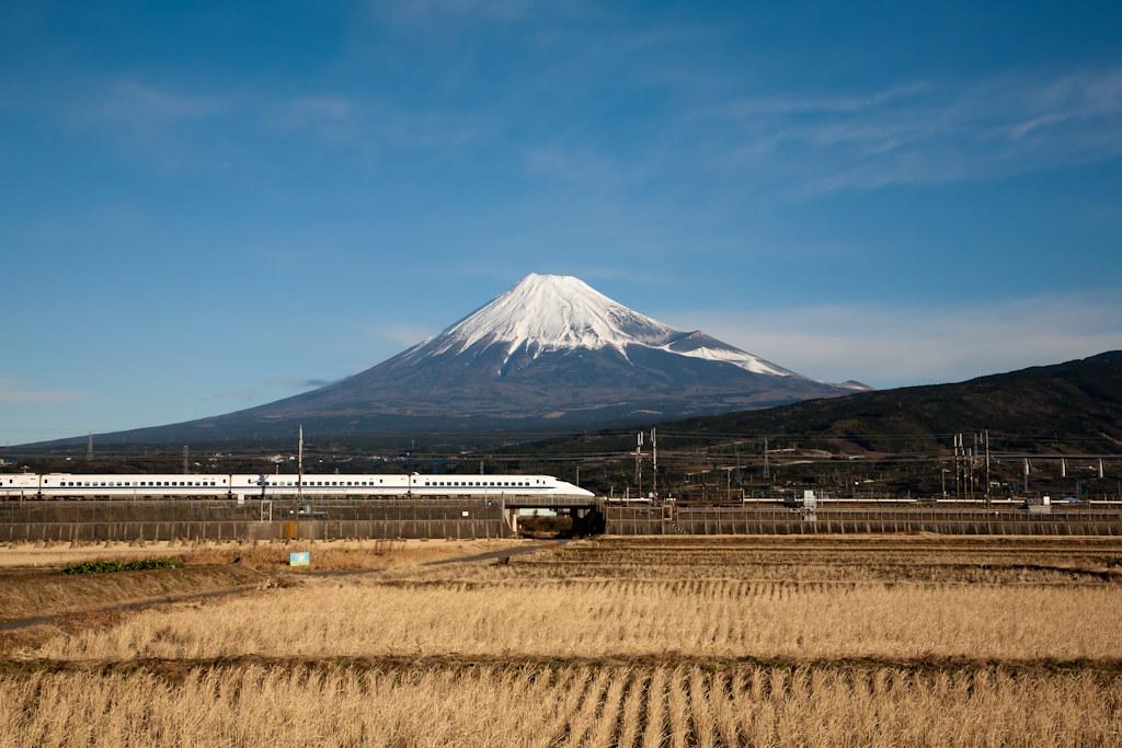 Mt. Fuji and Shinkansen Express train rides in Japan