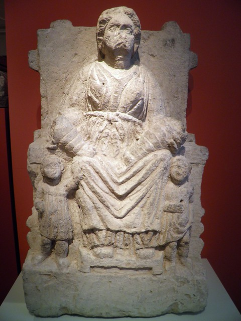 Enthroned Woman with Swaddled Babies, Italia Antiqua: Etruscans and Romans (Altes Museum, Berlin)