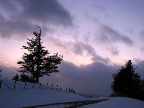 winter sunset cloud snow tree fence landscape northcarolina blueridgeparkway westernnorthcarolina southernappalachians ccbyncsa canonpowershotsx10is mountjeffersonoverlook