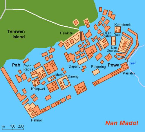 Mapa Nan Madol