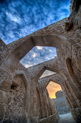Arches with fire and blue