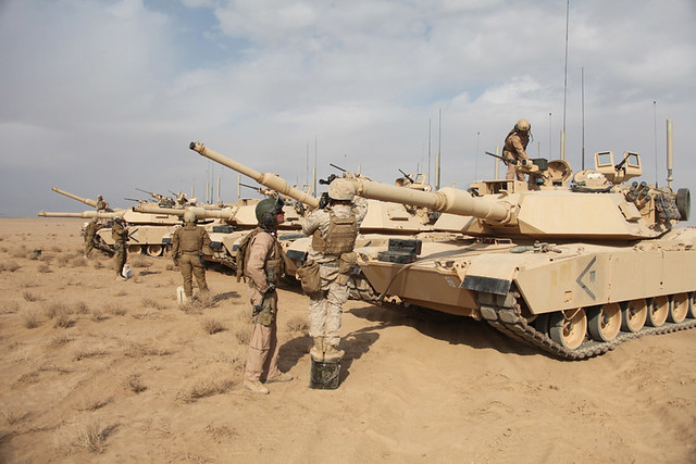 Marine Corps tanks prepare for first mission in Afghanistan