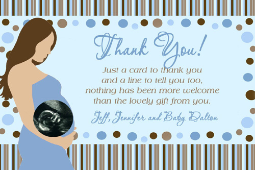 Unique Thank You Notes for Baby Shower Gifts  Concept