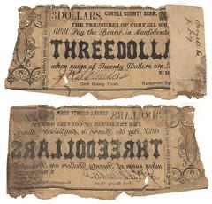 Coryell County $3.00 (three dollars) county scrip
