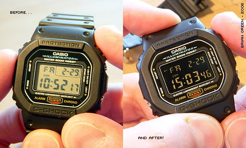 G-Shock Negative Display Conversion Hack