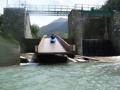Mike sliding down the barrage at Le Fontenil Image