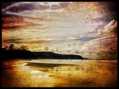Golden sands Perranporth Cornwall