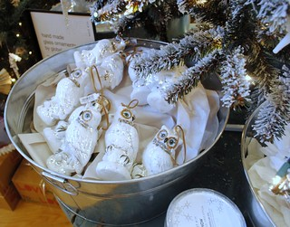 Bucket of Owl ornaments