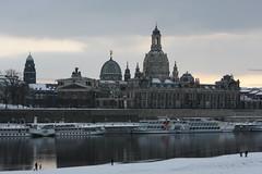 Verschneites Dresden - Altstadt Frauenkirche Kunstakademie Brühlsche Terrasse 2010-02-14