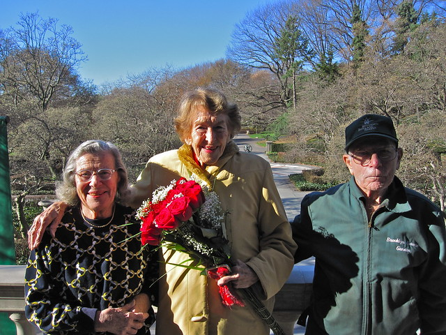 Lucille, Betty, and Robby have all been at BBG for 50 years or more! Photo by Rebecca Bullene.