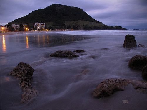 Last light - Mt Maunganui.