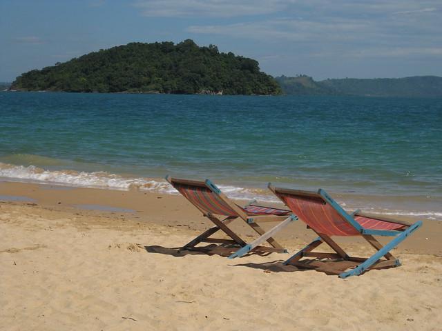A beach in Sihanoukville, Cambodia