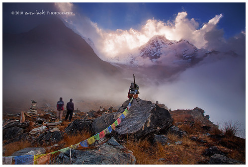 nepal sunset trek landscape photography south trail abc himalaya dee annapurna everlook