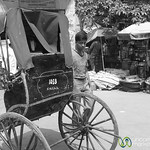 Rickshaw on the Streets of Kolkata - India