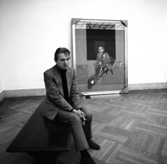 Francis Bacon, New York, by Harry Benson 1975