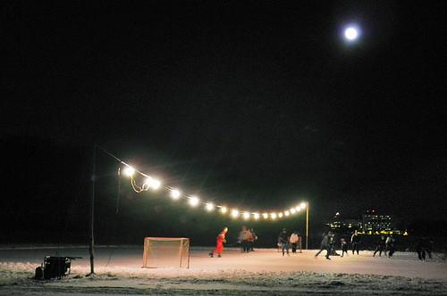 Hockey in the night