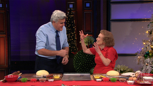 Marjorie with Jay Leno