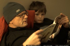 grandpa reading nick a bedtime story