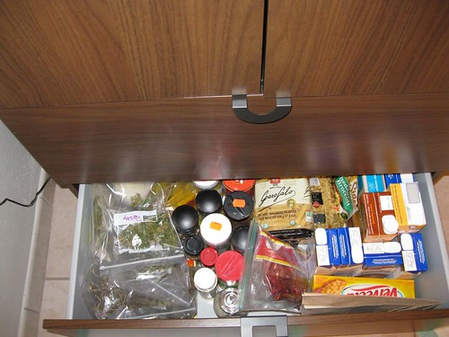Pantry cupboard, bottom drawer