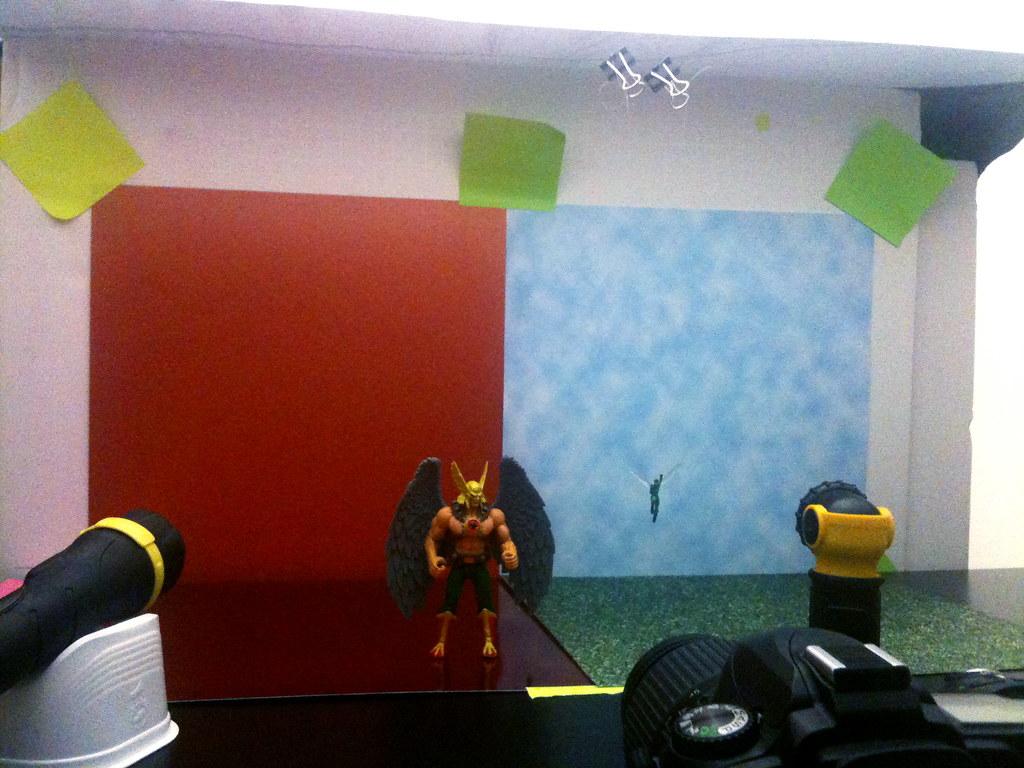Hawkman vs. Wasp Setup